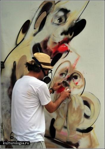 Картины граффити-художника Jaybo, известного под ником Monk
