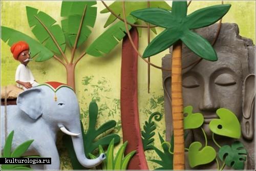 Пластилиновые иллюстрации Irma Gruenholz