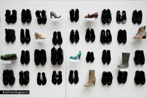 Инсталляция из старых туфель от Риитты Иконен (Riitta Ikonen)