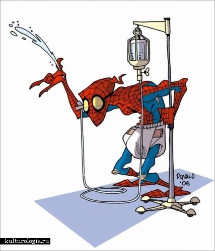 Карикатуры супергероев Дональда Соффитти (Donald Soffritti)