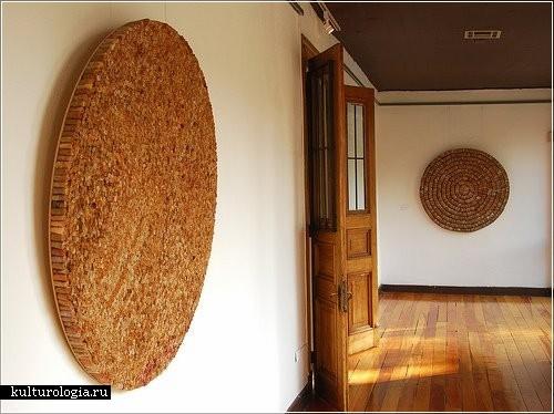 Инсталляции из чайных пакетиков от Валерии Буржоа (Valeria Burgoa)