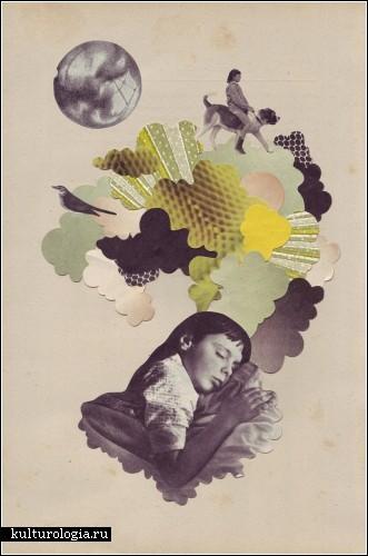 Мечтательные коллажи или коллажи-сны художницы Элеанор Вуд (Eleanor Wood)
