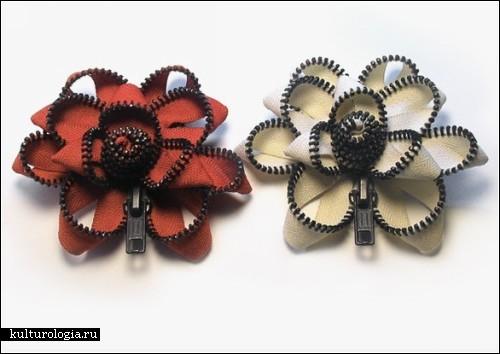 Бижутерия и украшения из молний от бруклинского дизайнера Kate Cusack