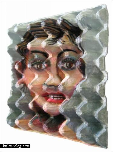 Картины на картонных яичных лотках от Enno de Kroon