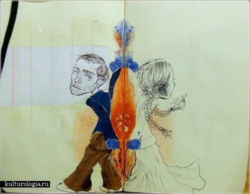 Рисунки-кляксы португальского художника L Filipe dos Santos