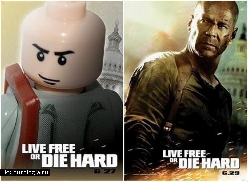Постеры из конструктора Лего