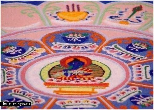 Ранголи - искусство рисования рисовой мукой