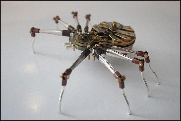 Робот-насекомое в стиле стимпанк. Автор: Tom Hardwidge