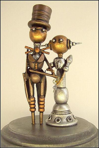 Семейная пара роботов в стиле стимпанк. Автор: Builder's Studio