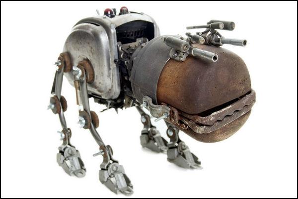 Домашний робот пёс в стиле стимпанк. Автор: Stephane Halleux