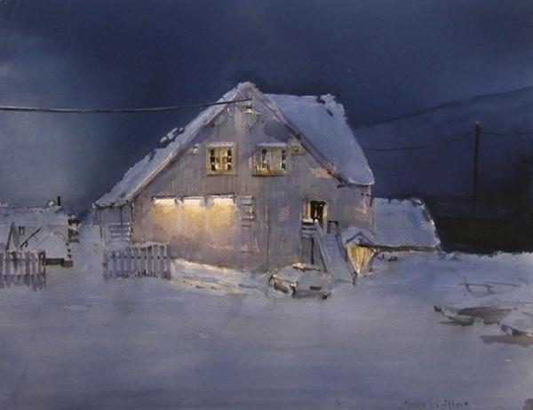 Особый норвежский свет в акварелях Torgeir Schjolberg