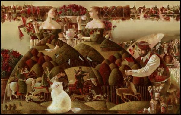 Сказочный мир в картинах Анны Березовской: *Пикник у озера*