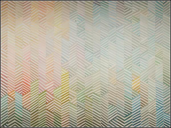 Абстрактные картины Элохима Санчеса: искусственный мир города - *Конструкция 1*
