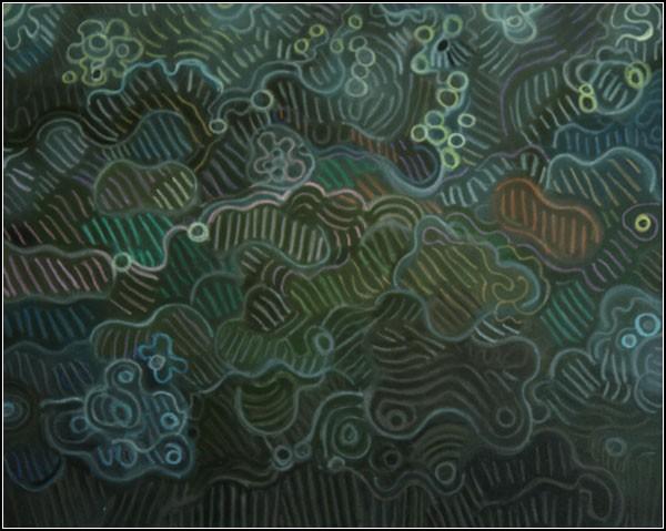 Абстрактные картины Элохима Санчеса: *Ночные огни*