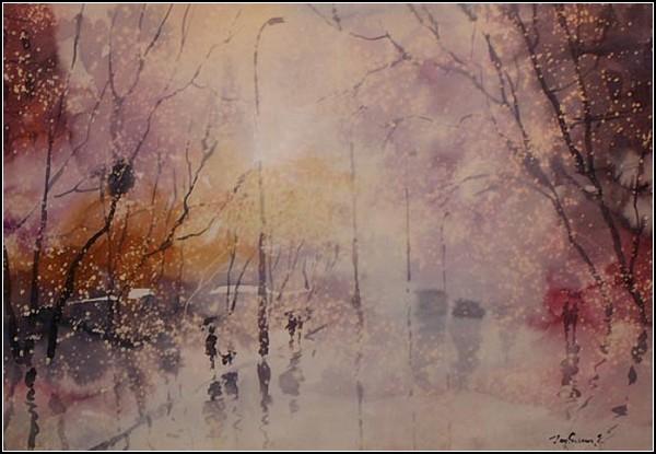 Осень - любимое время года художника