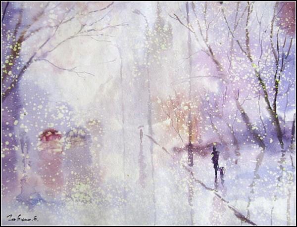 Сквозь пелену дождя: акварельная живопись Евгения Гавлина