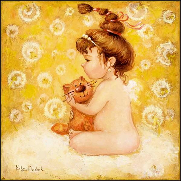 Очаровательные дети на картинах Екатерины Дудник: *Малышка*