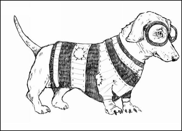 Иллюстрации животных Натали Лайнс: *Такса*