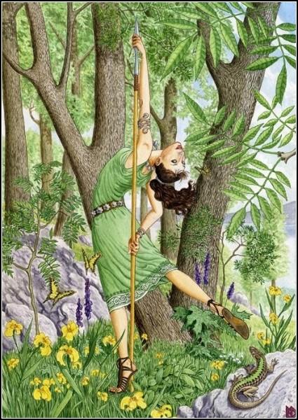 Женское начало в природе на иллюстрациях Николая Фомина: *Ясень*