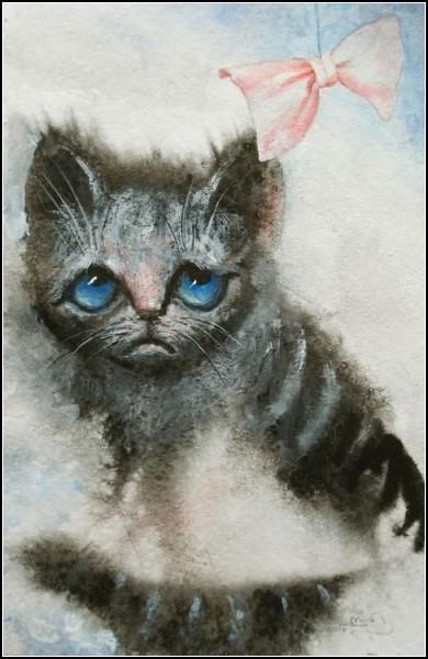 *Грустный котенок*