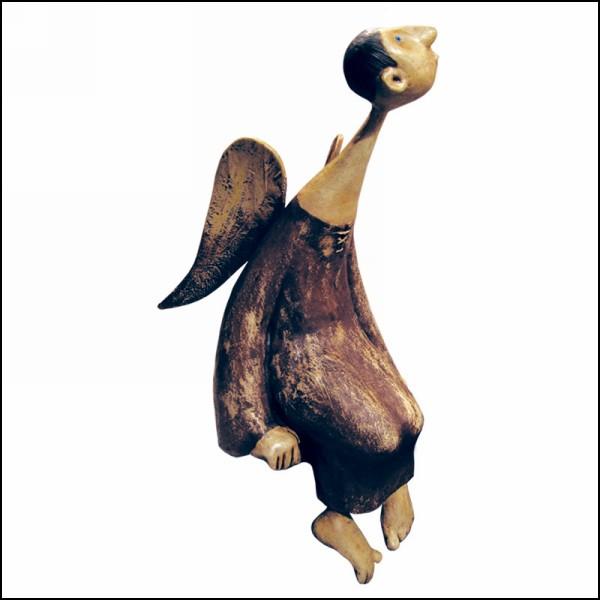 Куклы из папье-маше Романа Шустрова: *Сидящий ангел*