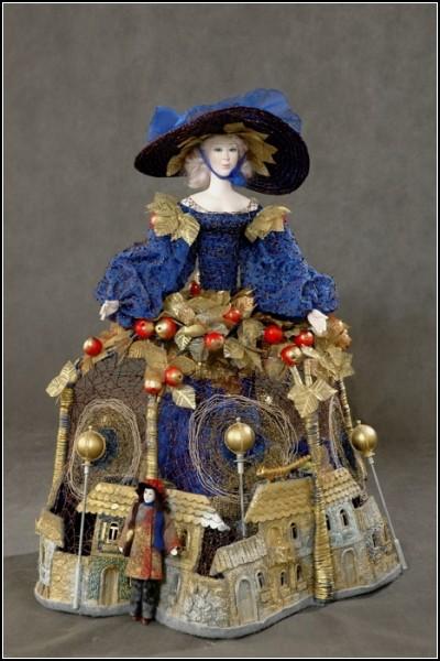 Коллекционные куклы Земфиры Дзиовой: образы, навеянные самой природой. *Осень*