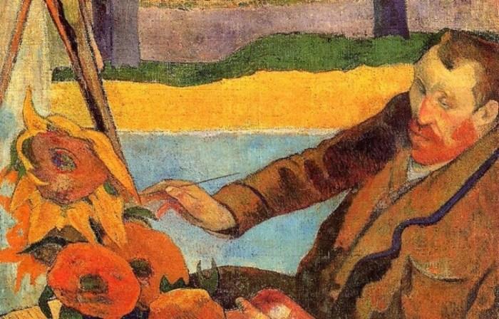 Ван Гог и его любимые подсолнухи.