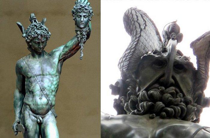 Персей с головой Медузы.