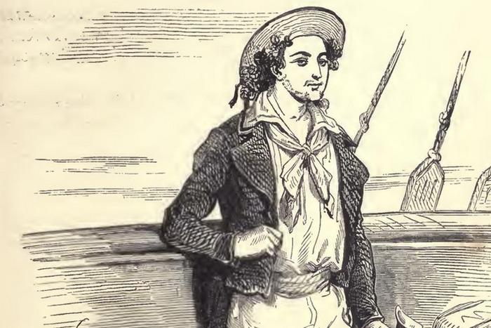 Моряк Эдмон Дантес. Иллюстрация к книге Дюма.