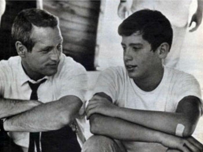Пол Ньюман и его сын Скотт.