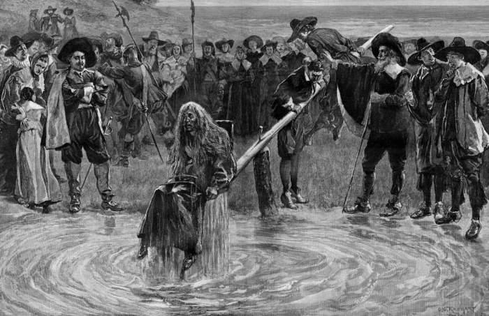 Как и за что наказывали женщин в Средневековье.