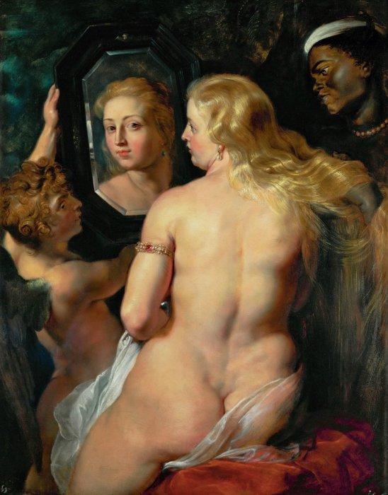 Венера перед зеркалом. Рубенс.