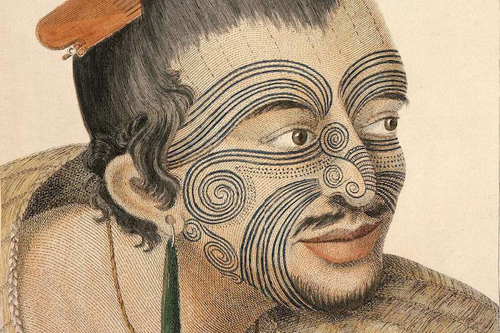 Татуировки народа маори.
