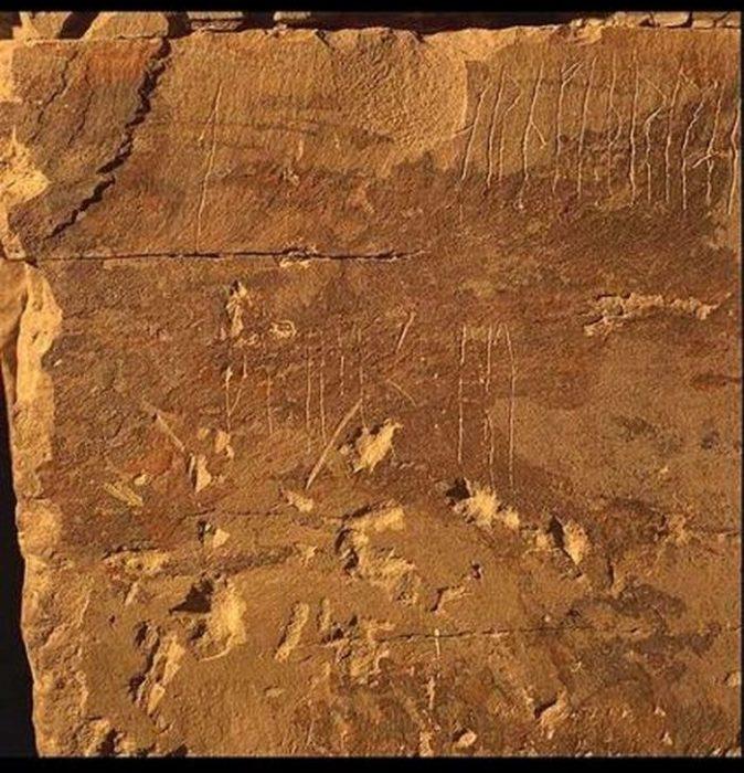 Эти надписи остались со времён викингов.