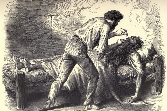 Иллюстрация к книге «Граф Монте-Кристо».