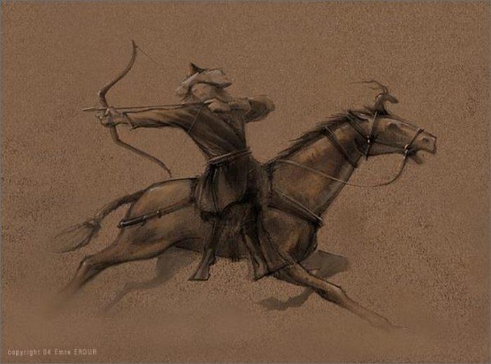 Вот как выглядел воин гунов.