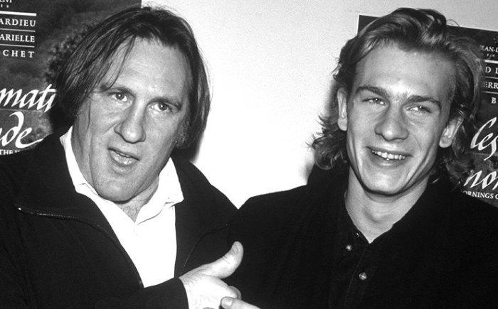 Популярный актёр Жерар Депардье с сыном.