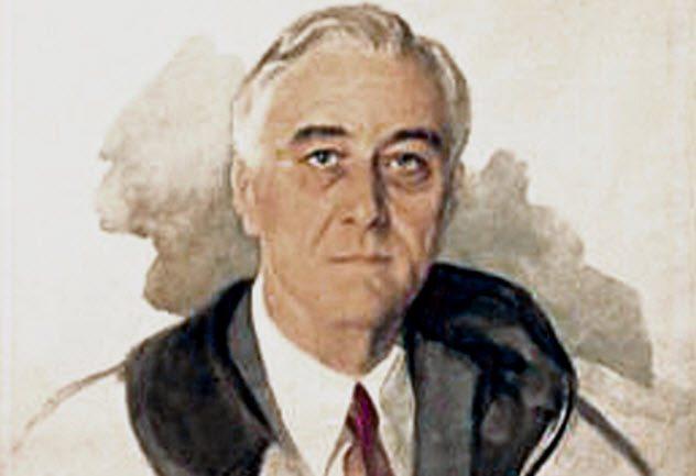 Неоконченный портрет президента Франклина Делано Рузвельта. Элизабет Шуматофф.