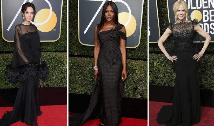 Голливудские звёзды, которым чёрный цвет явно к лицу.