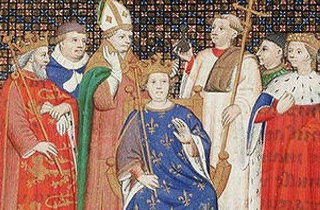 Филипп II Август и Ингеборга Датская