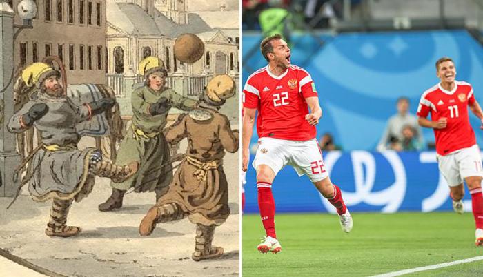 Как от века к веку менялась одежда футболистов.