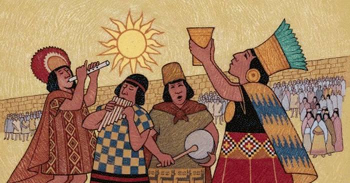Инки воздают хвалу Солнцу.