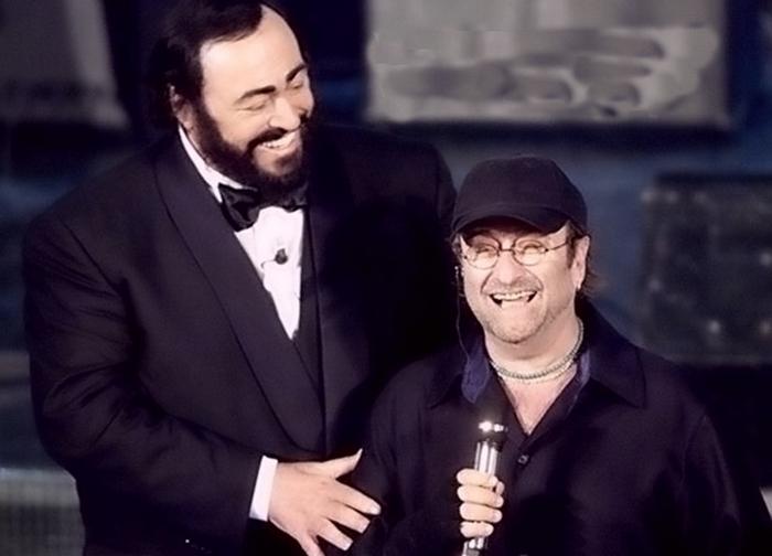 Лучо Далла и Лучано Паваротти.