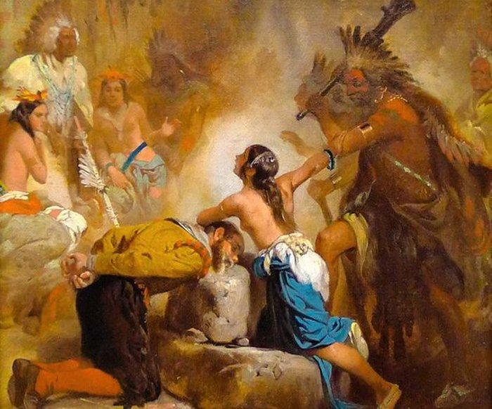 Покахонтас просит о спасении Смита.
