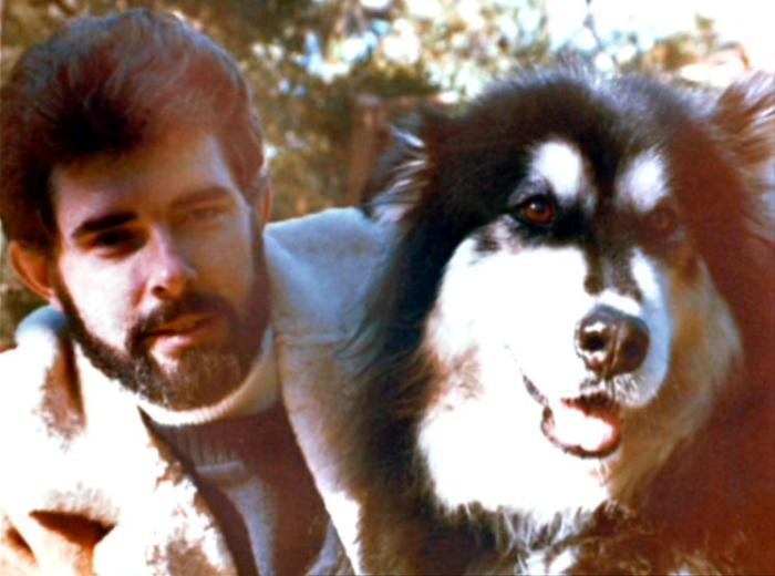 Лукас и его маламут.