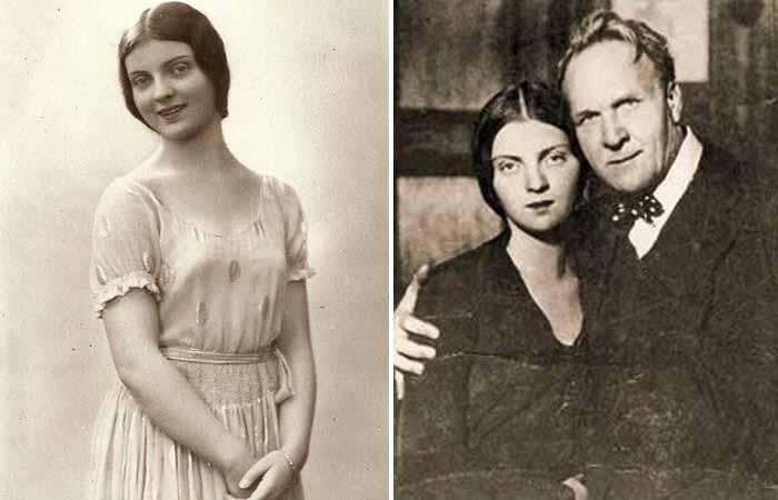 Марина Федоровна Шаляпина и ее знаменитый отец.