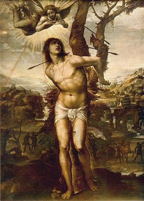 Святой Себастьян. Giovanni Antonio de Bazzi. 1525–26 г.