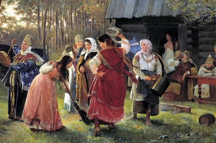 Русская свадьба.
