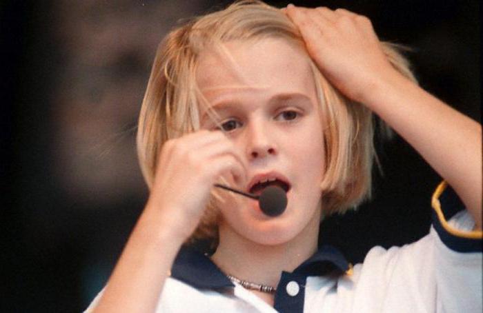 Аарон Картер в детстве.