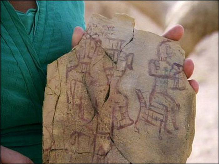 Возможно, это изображение Яхве и его Ашеры.